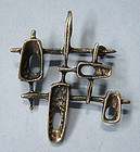 Sterling Modernist Pendant/Pin, c. 1955