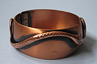 Whiting and Davis Copper Plated Bangle, c. 1960