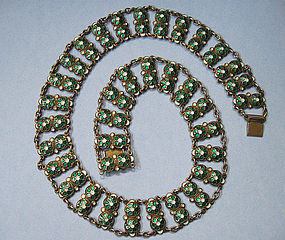 Norwegian Sterling and Enamel Necklace, c. 1960