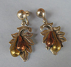 Mexican Mixed Metal Earrings, c. 1960