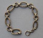 Victorian Revival Sterling Link Bracelet, c. 1950