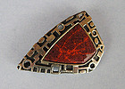 Sterling and Enamel Pin/Pendant, c. 1960