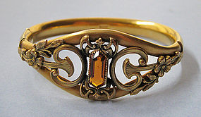 American Gold-Plated Bracelet, c. 1910
