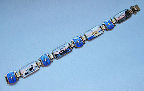 Norwegian Sterling and Enamel Bracelet, c. 1965
