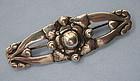Sterling Handmade Pin, Danish Style, c. 1945