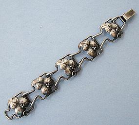 Sterling Danish-Style Bracelet, c. 1940