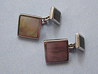 Sterling and Mother-of-Pearl Cuff Links, c. 1975