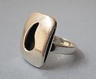 Sterling Modernist Ring, Joseph Skinger, c. 1950