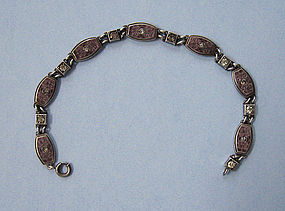 American Sterling and Enamel Bracelet, c. 1920