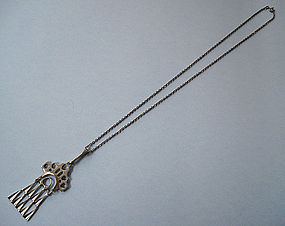 Norwegian Silver Pendant and Chain, �strem, c. 1975