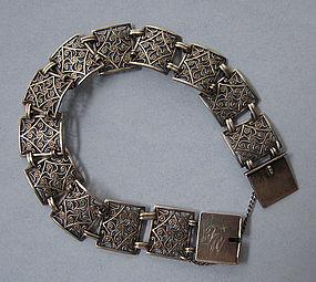 Swedish Silver Openwork Bracelet, c. 1960