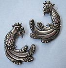 Pair of Los Castillo Sterling Dress Clips, c. 1940