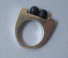 Handmade Sterling and Sodalite Ring, c. 1975