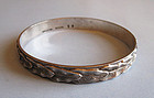 American Sterling Bangle, Kirk, c. 1960