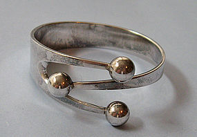 Norwegian Sterling Bangle Bracelet, c. 1965