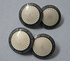 Art Deco Enameled Cuff Links, c. 1920
