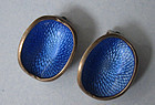 Sterling and Enamel Earrings, c. 1960