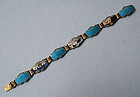 Norwegian Sterling and Enamel Bracelet, c. 1960