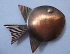 Rebajes Copper Fish Pin, c. 1960