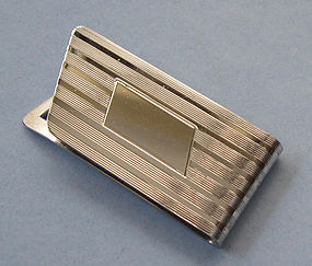 Engraved Sterling Money Clip, c. 1955
