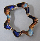 Silver and Enamel Pin/Pendant, c. 1960
