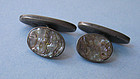 Sterling and Abalone Cuff Links, c. 1935