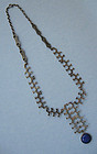 Handmade Silver and Blue Chalcedony Necklace, c. 1970
