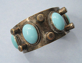 Silverplated and Glass Cuff, c. 1955