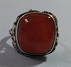 American Sterling and Carnelian Ring, c. 1955