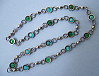 Silver and Enamel Chain Necklace, c. 1960