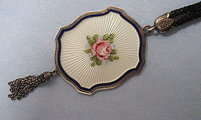 Sterling and Enamel Necklace, c. 1930