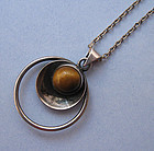 Silver and Tiger Eye Necklace, c. 1975