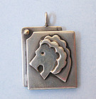 Sterling Lion Pendant, c. 1980