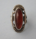 Sterling and Carnelian Ring, c. 1975