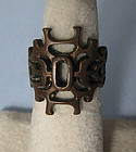 Copper Openwork Ring, c. 1975