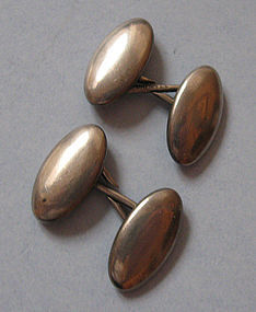 American Sterling Cuff Links, c. 1890