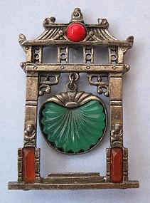 Art Deco �Pagoda� Pin, c. 1925