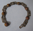 Sterling and Agate Bracelet, c. 1950