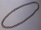 European Openwork Silver Chain, c. 1950