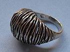Modernist Sterling Ring, S�Paliu, c. 1970