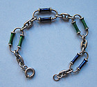 Sterling and Enamel Link Bracelet, c. 1965