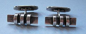 Danish Modernist Silver Cuff Links