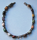 Mexican Sterling Choker with Colored Stones