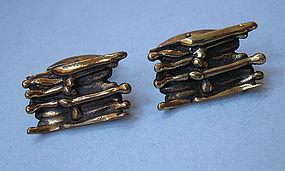 Finnish Bronze Cuff Links