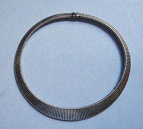 Mid-Century Sterling Flexible Choker