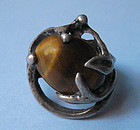 Mexican Sterling and Tiger Eye Ring