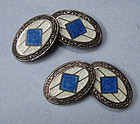 American Sterling and Enamel Cuff Links