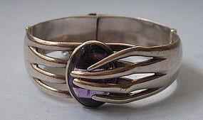 Sigi Sterling and Amethyst Bracelet