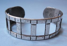Sterling Openwork Mexican Cuff