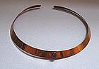 Ed Levin �Bronze� Collar, Set With Amethyst, c. 1980